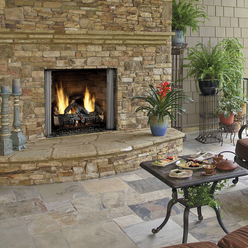 Majestic Carolina Series Outdoor Fireplaces | National Home Comfort