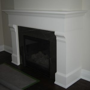 NFAS Custom Design Wrapping Wood Fireplace Mantel | National Home Comfort
