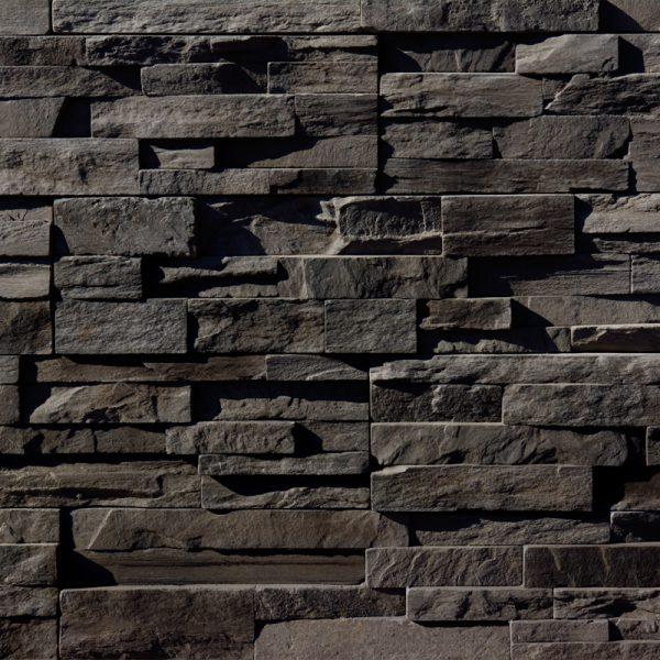 StoneROX Precision Ledge Midnight Annex Stone Veneer | National Home Comfort