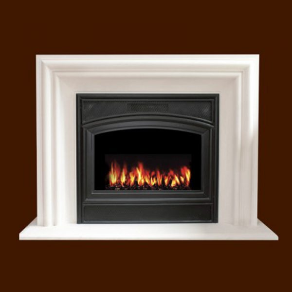 Villa Nova Cabinet Stone Fireplace Mantel | National Home Comfort